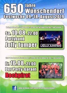 Bild: 650 Jahre Wünschendorf Festprogramm