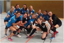 Damen-3 nach dem 3:0-Sieg gegen den Remscheider TV