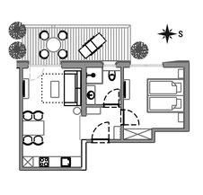 Apartement Pluna - floor plan