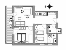 Appartement Rosella - Grundriss