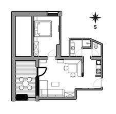 Apartement Laina - floor plan