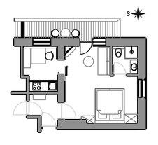 Apartement Glüna - floor plan