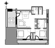 Apartement Fortüna - floor plan