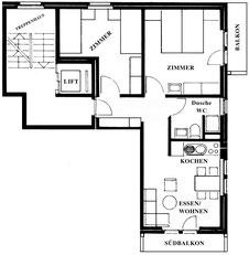 Grundriss Wohnung 3