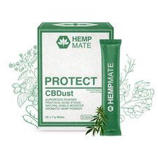 HempMate CBDust PROTECT bereitet den Körper auf tägliche Herausforderungen vor.