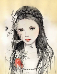 Snow White, illustration de Melissa Haslam