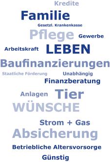Bild Themen-Cloud Maximilian Moos, Versicherungsmakler Neustadt an der Weinstraße