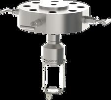 Liquid sampling - MBS-D2 DB&B Monoflange Valve Liquid Sampler - Mechatest Bottle Sampler - closed sampling Hydrocarbon liquids - Dopak DPM