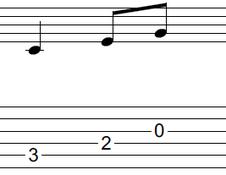 ギターアドリブ入門講座(初心者) 2拍パターン1-1