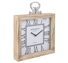 Reloj pared cuadrado madera Londres