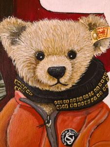 Steffi und Teddybär Vincent