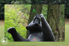 3D Tiernachbildung - Stehender Bär beim Jubiläumsturnier in Merkwitz 2017