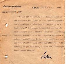 """1926: Bauvorhaben - Siedlungsgelände der ehemaligen Siedlungsgesellschaft """"Neudeutschland"""""""