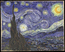"""VanGogh-starry night"" von Vincent van Gogh - Downloaded from Houston tourism web site around painting's time in Houston's Museum of Fine Arts (21 September 2003 - 4 January 2004). Can no longer find web site.. Lizenziert unter Gemeinfrei über Wikimedia C"