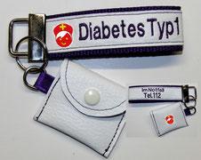 Schlüsselband Notfallset Diabetiker