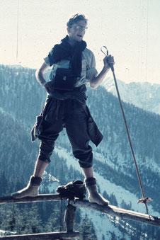 Mein Vater, Dr. Peter Winter, in den Bergen