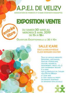 Exposition-vente de l'APEI de Vélizy.