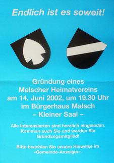 Plakat zur Gründungsveranstaltung