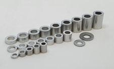 Alu Abstandshalter, Alu Hülsen, Aluminium Hülsen M2 M3 M4