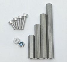 Alu Schrauben M2.5, Aluminium M2.5, Alu M2.5