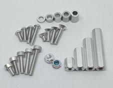 Alu Schrauben M2, Aluminium M2, Alu M2