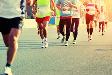 Wettkampf-Straßenlauf
