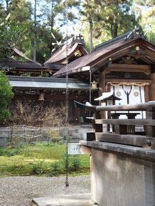大和神社本殿を望む