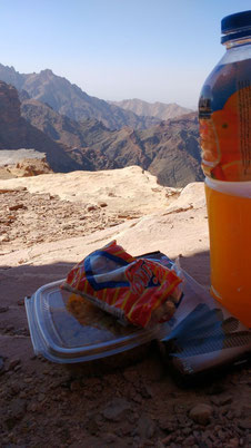 A picnic with an unbeatable view at Petra, Jordan. Dante Harker