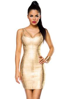 Bandage-Shape-Kleid Gold