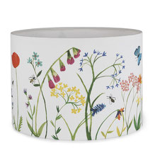 Lampshade with floral design from Driftwood Designs