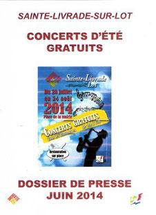 Concerts d'été 2013