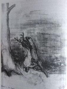 Herbst:Ein Molch im Teich