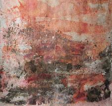 Marcelle Behnamou, Tous des oiseaux 1, acrylique sur toile, 190 x 180.