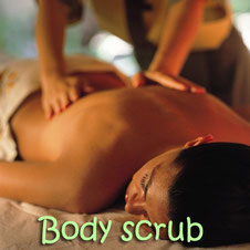 A exfoliating body scrub with a complementary cucumber mask. A great intro for a massage!