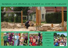 Andrea Weinke-Lau, Spielplatzeröffnung