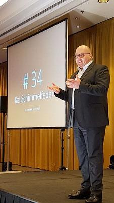 """Kai Schimmelfeder am 16.03.2018 im Weltrekord mit Startnummer 34: Vortrag """"Fördermittel-Dschungel"""""""
