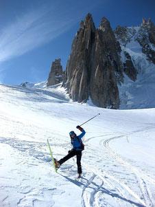 Down Geant glacier - W.Colonna