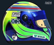 Helmet of Felipe Massa by Muneta & Cerracín