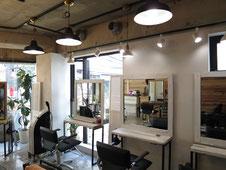 美容室の照明パース