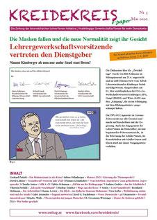 Der neue KREIDEKREIS e-paper Nr. 3 Mai 2020  Cartoon:Georg Vith