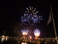 Feuerwerk in den Docklands