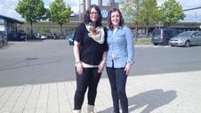 v.l.n.r.: Sylvia Bokelmann (Abteilungsleitung Gymnastik) und Anne Thonicke (1. Vorsitzende TuS Hinte)
