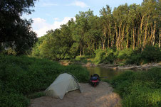 Wildcamp an der Raab
