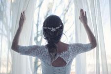 Braut Hochzeit Fenster