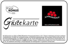 Konus-Gästekarte Bad Bellingen