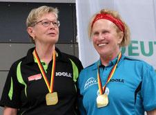 Marianne Kerwat mit Doppelpartnerin