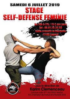 stage self-défense femme la rochelle