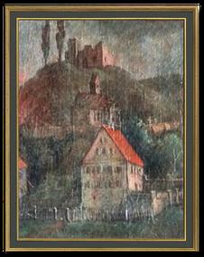 Schlossruine auf dem Schlossberg in Buch