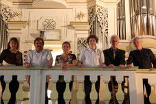 Helga et les stagiaires participants à l'audition d'orgue de l'académie (2012)