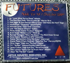 AIR futures adult top 40, october 2004, Nicholas Jonas single Dear God